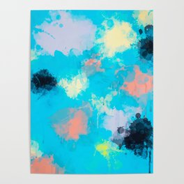 Abstract Paint splatter design Poster