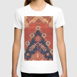 Southwest Tuscan Shapes III // 18th Century Aged Dark Blue Redish Yellow Colorful Ornate Rug Pattern T-shirt