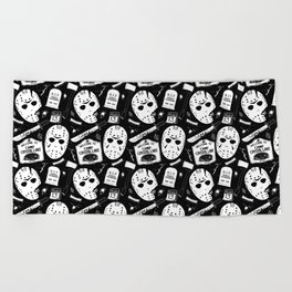 Welcome to Camp Crystal Lake! Beach Towel