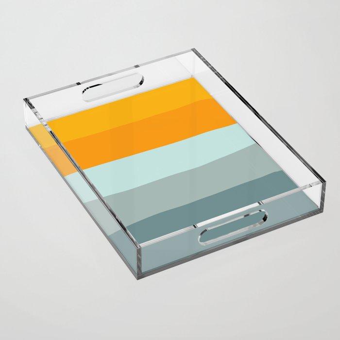 Zen Ocean Stripes Acrylic Tray