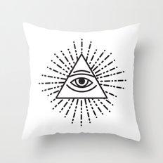 the seeing eye Throw Pillow
