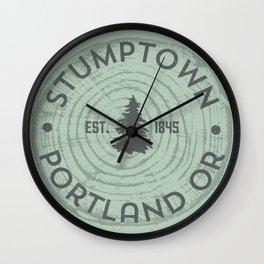 Stumptown Wall Clock