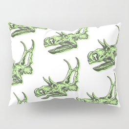 Triceratops Dinosaur Skulll & Skeleton Pattern Pillow Sham