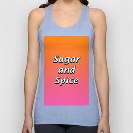 Sugar and Spice Unisex Tank Top