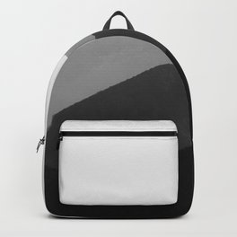 Simple Minimalist Landscape Parallax Mountain Landscape Black And White Backpack
