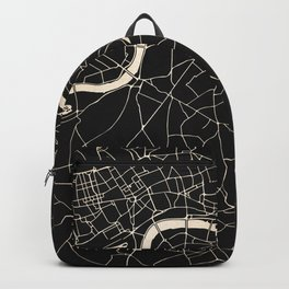 London Black on Gold Street Map II Backpack