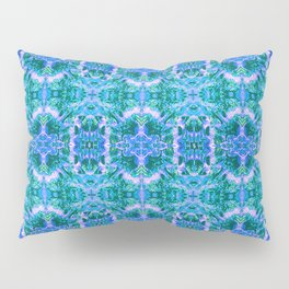 Psychedelic Kaleidoscope Sea Foam Pattern Pillow Sham