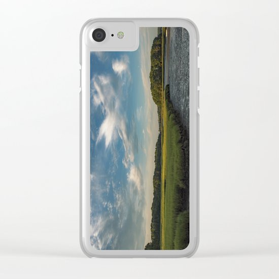 Sky and marsh Clear iPhone Case