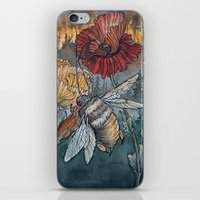 caitlin hackett iPhone & iPod Skins featuring Ashes to Ashes by Caitlin Hackett
