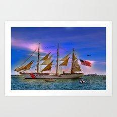 US Coast Guard Eagle.  Art Print