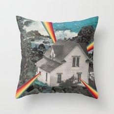 Rainbow House Throw Pillow