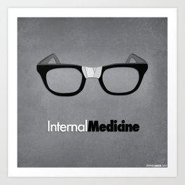 internal medicine Art Print