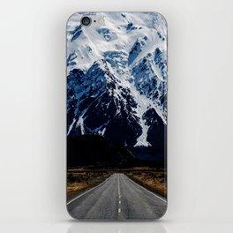 Mountain road iPhone Skin