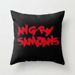 Angry Samoans Throw Pillow