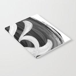 Thick Swirl Ampersand Black & White Notebook