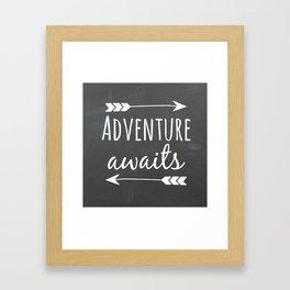 Adventure Awaits Chalkboard Framed Art Print