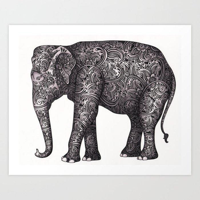 Decorative Elephant Art Print