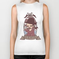 pirate Biker Tanks featuring Pirate by Jelot Wisang