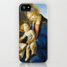 Botticelli  -  The Virgin And Child The Madonna Of The Book iPhone Case