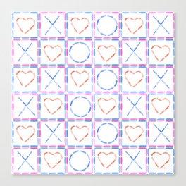 Hearts XOX Canvas Print
