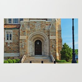 Old West End Our Lady Queen of the Most Holy Rosary Cathedral Door II- horizontal Rug