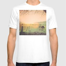 country life  Mens Fitted Tee MEDIUM White
