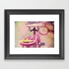I Rode My Bicycle Past Your Window Last Night Framed Art Print