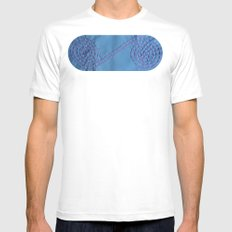 Internity or Circle of life Mens Fitted Tee MEDIUM White