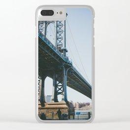 Down Under the Manhattan Bridge Clear iPhone Case