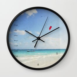 Carribean sea 4 Wall Clock