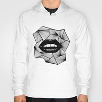lips Hoodies featuring Lips by Aurelie
