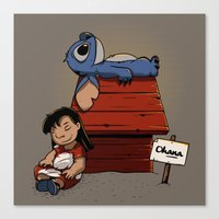 lilo and stitch Canvas Prints featuring Lilo & Stitch by le.duc