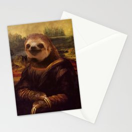 Sloth  Mona Lisa Stationery Cards