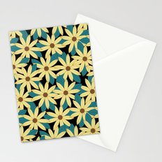 Gerbera Black Stationery Cards