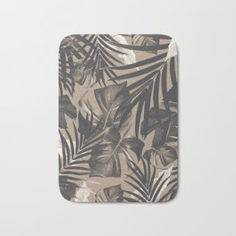Tropical Jungle Leaves Pattern #2 #tropical #decor #art #society6 Bath Mat