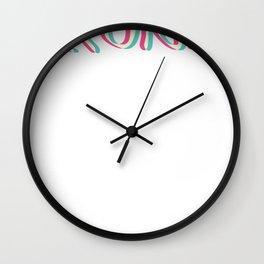 Techno Krunk Rave Trippy EDM Glitch Hadstyle Wall Clock