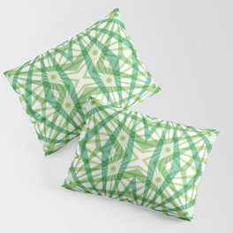 Through the Ferns - a Geometric Abstract Pillow Sham