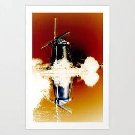 Windmill Reflection #5 Art Print