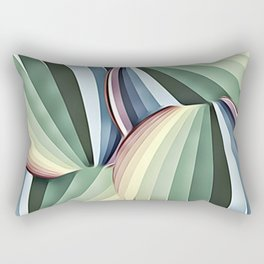 Art Deco Muted Circles Of Color Rectangular Pillow