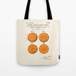 Basketball Patent Tote Bag