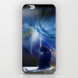 Cyberspace Cat iPhone Skin