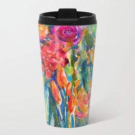 Mexican Bouquet Color Flowers Metal Travel Mug