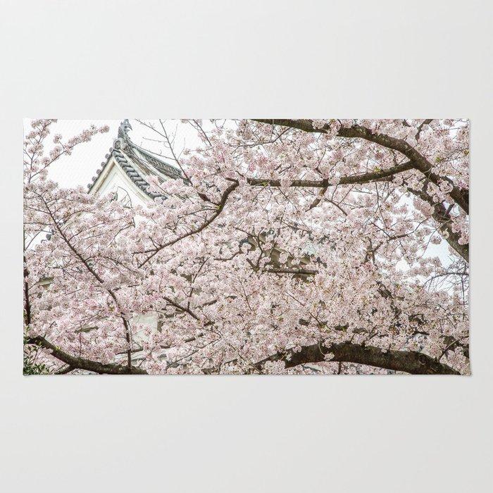 Cherry Blossoms in Osaka Japan Rug