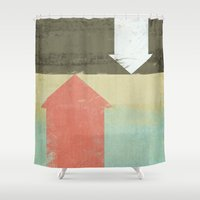 arrows Shower Curtains featuring Arrows by Metron