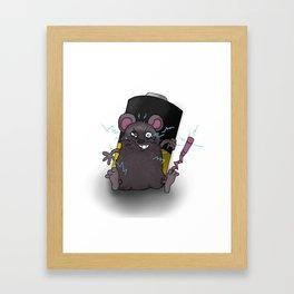 Zap Rat Framed Art Print