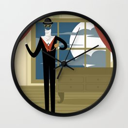the invisible man Wall Clock