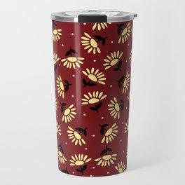 Ethnic flowers Travel Mug