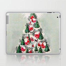 Vintage Christmas Tree Village Laptop & iPad Skin