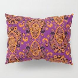 Golden Paisley Purple Pillow Sham