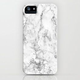 Gray Marble Background iPhone Case